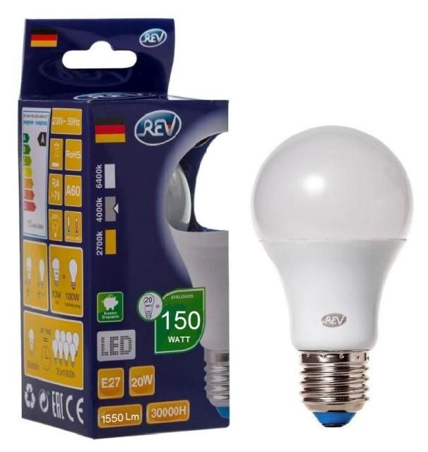 Лампа светодиодная Rev A60 Е27 20W 4000K