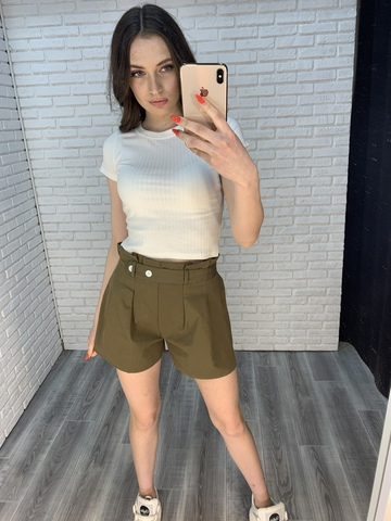 шорты хаки женские купить