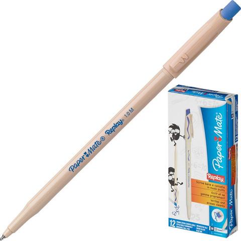 Ручка шариковая со стираемыми чернилами Paper Mate Replay синяя (толщина линии 0.8 мм)