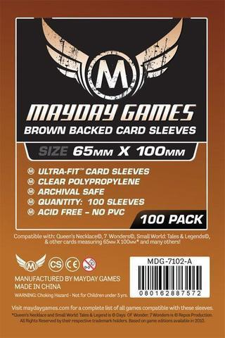 Протекторы Mayday: Brown Backed Magnum Copper Sleeve 65X100 (100)