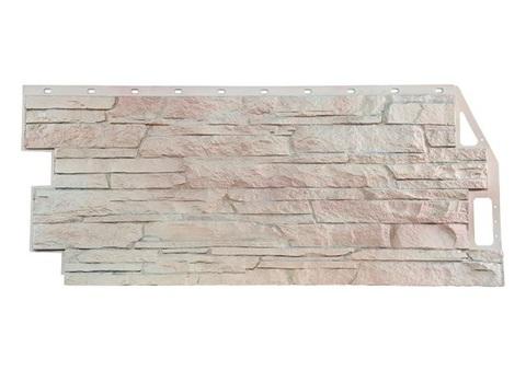 Фасадная панель Скала - Мелеванный Белый