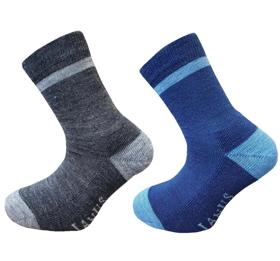 Janus, Термоноски с махровой стопой, 2 пары, синий