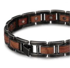 Деревянный магнитный браслет
