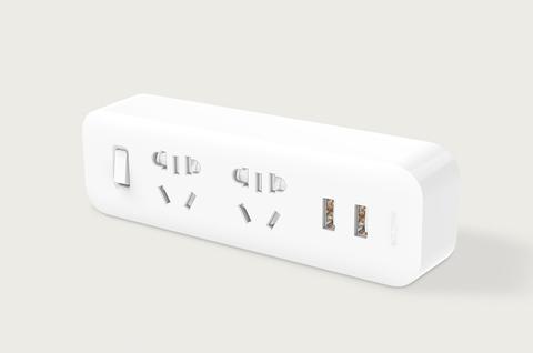 Разветвитель Xiaomi Mi Power Strip (2 розетки/2 USB) (белый)