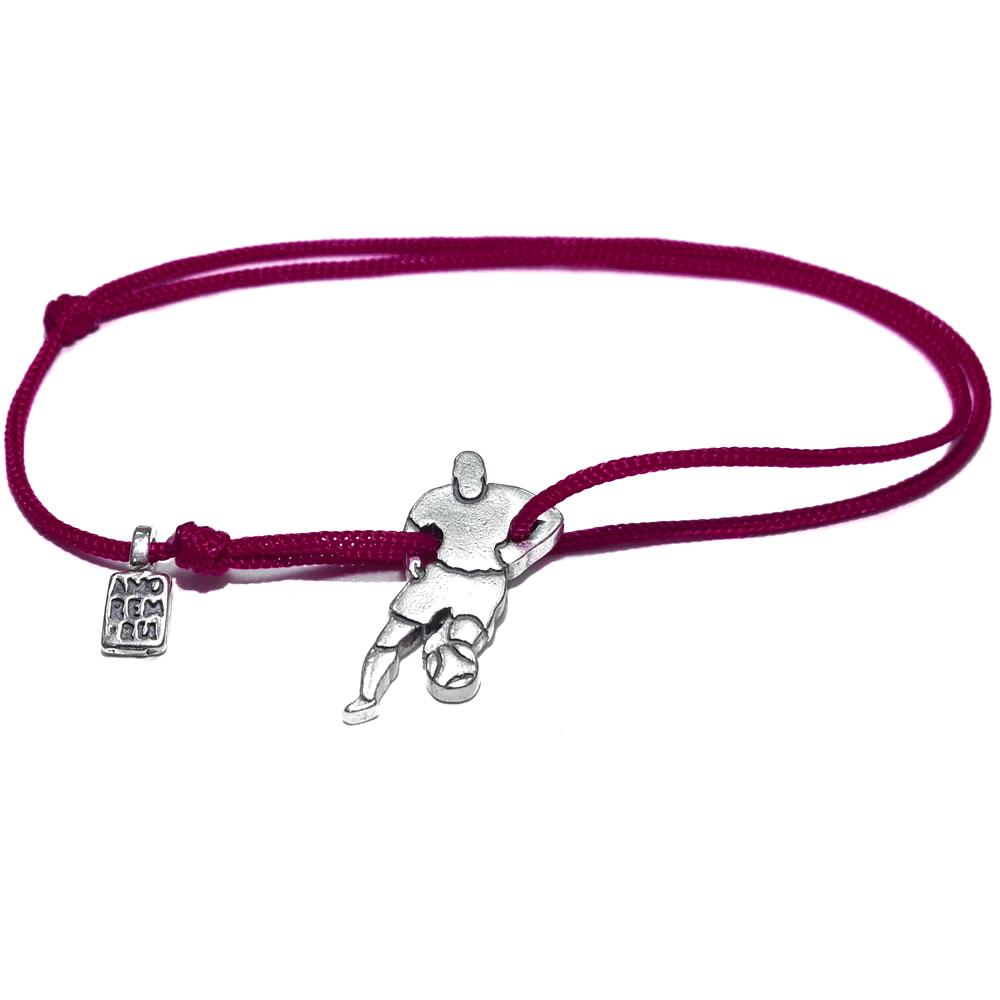 Soccer player Bracelet, sterling silver