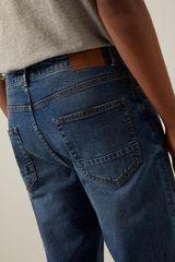 Темно-сині джинси прямого крою