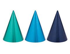 Колпаки, Оттенки синего, 3 цвета, 12 шт, 1 уп.