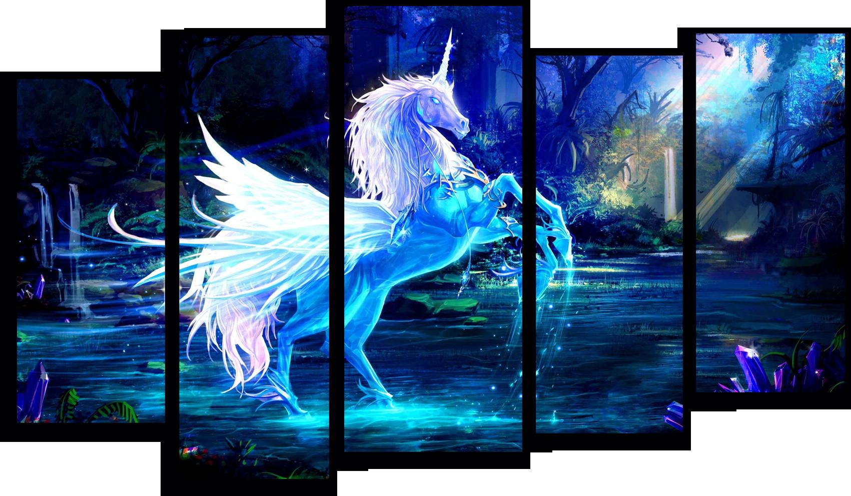 """Животные Модульная картина """"Магический единорог"""" М223.png"""
