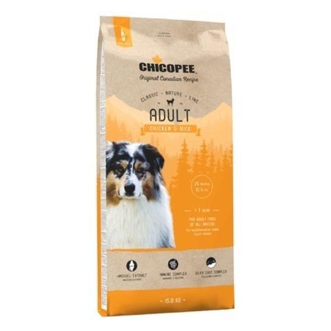 Chicopee CNL Adult Chicken & Rice сухой корм для взрослых собак всех пород с курицей и рисом, 15 кг.