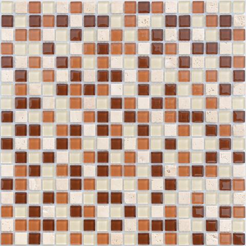 Мозаика стеклянная с камнем Baltica 15x15x4 305х305