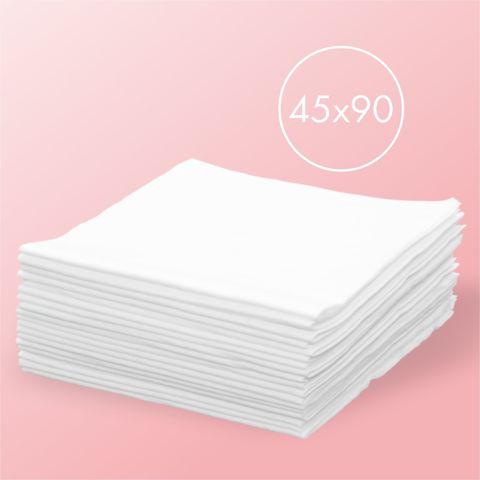 Одноразовые салфетки спанлейс, белые 50шт, 45*90