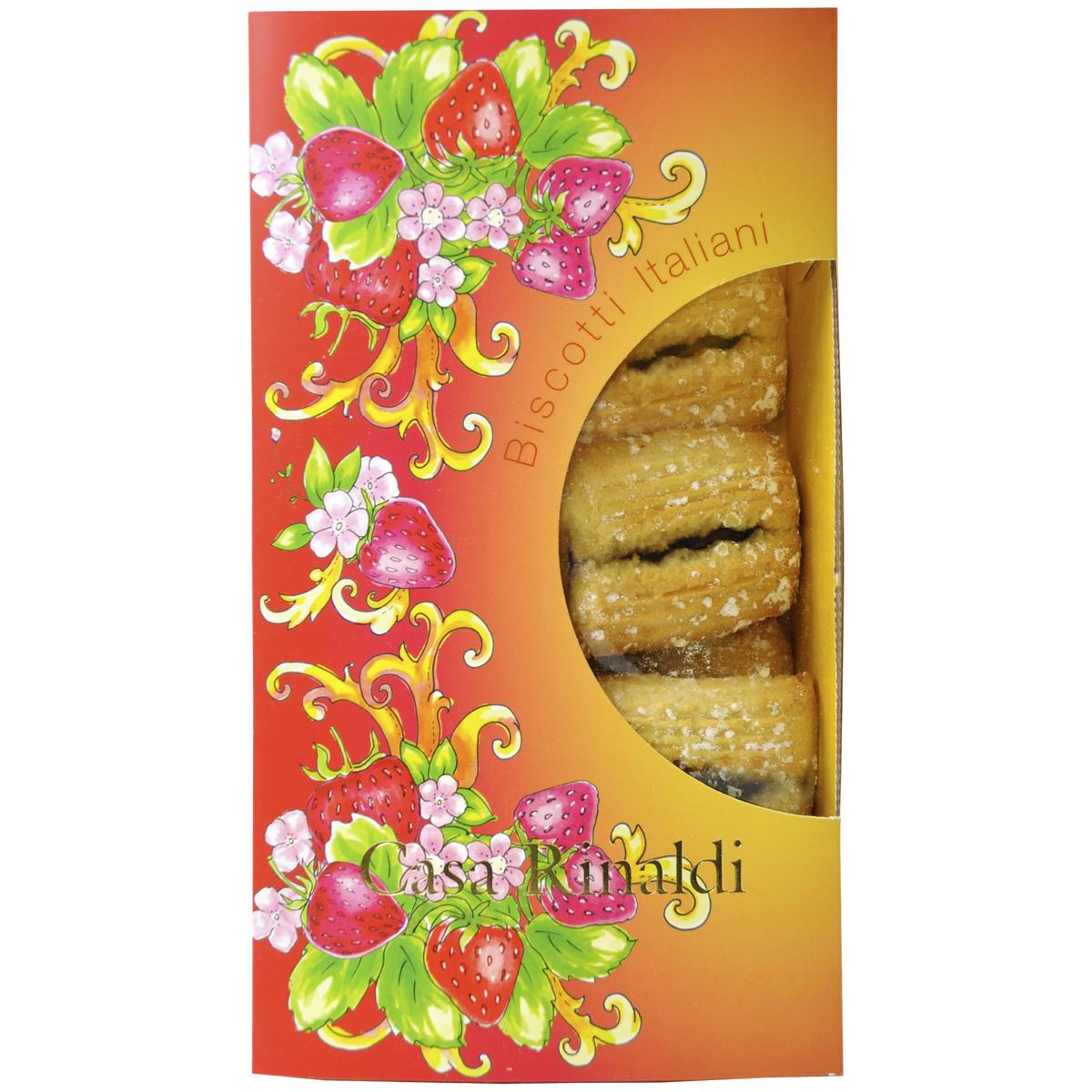 Печенье Casa Rinaldi Кучини с клубничным джемом 200 г