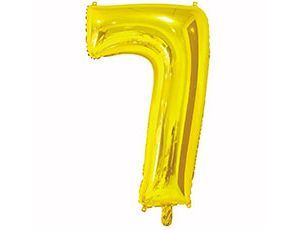 Цифра 7 золотая 65 см