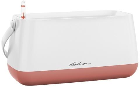 13891 Корзинка для растений Юла Белый/ярко-розовый с системой автополива