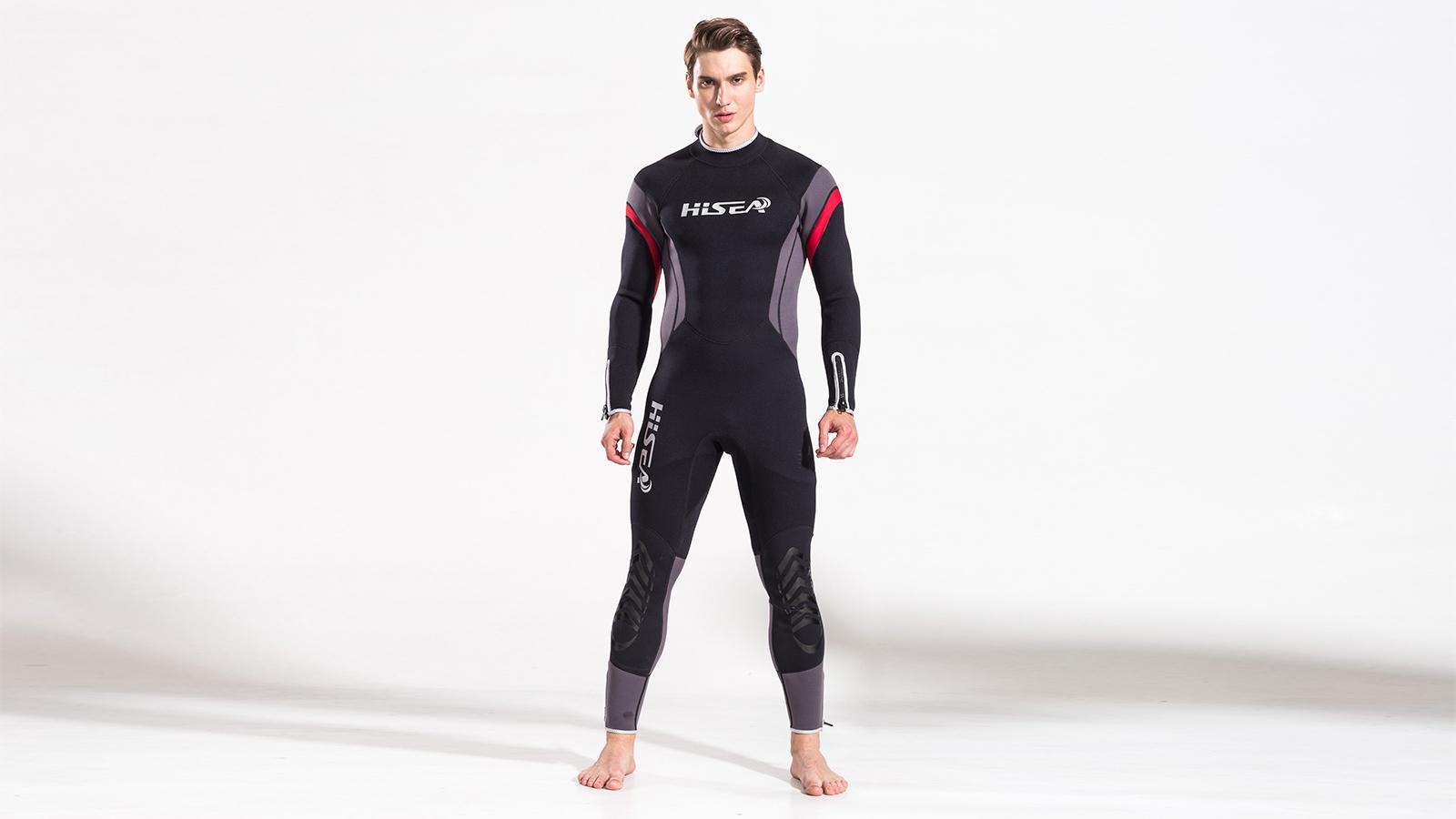 гидрокостюм мужской HiSEA, черно-красный