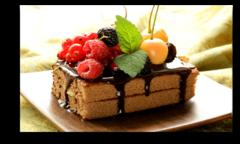 """Постер """"Шоколадное пирожное"""""""