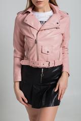 Куртка косуха из кожзама короткая Nadya