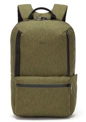 Рюкзак антивор Pacsafe Metrosafe X ECO, зеленый, 20,5 л.