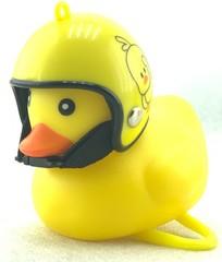 Звонок утка West Biking, желтый шлем