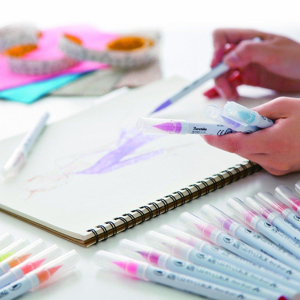 Маркер акварельный ZIG Clean Color Real Brush- штучно -FL.Pink - 003