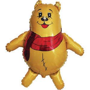 Фольгированный шар Медведь в шарфе 85 X 83см