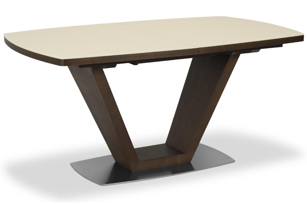 Стол обеденный AVANTI ATLANTA (160) MATT CREAM/WALNUT (крем/орех)