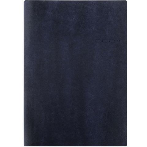 Еженедельник Letts Lecassa A4 (412 159020) кремовые стр гибкая обложка синий
