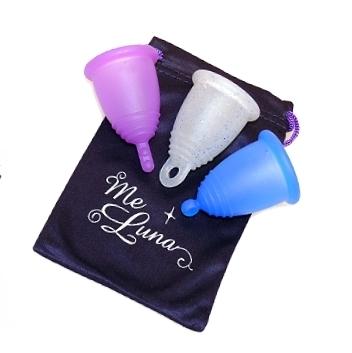 Менструальная чаша MeLuna SOFT с блестками– размер S.