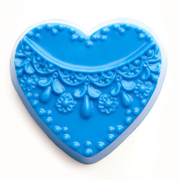 Форма для мыла Сердце с орнаментом 3