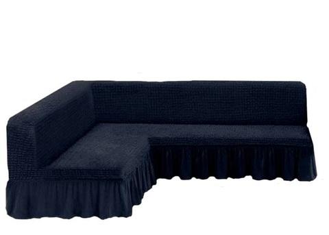 Чехол на угловой диван без подлокотников, темный асфальт