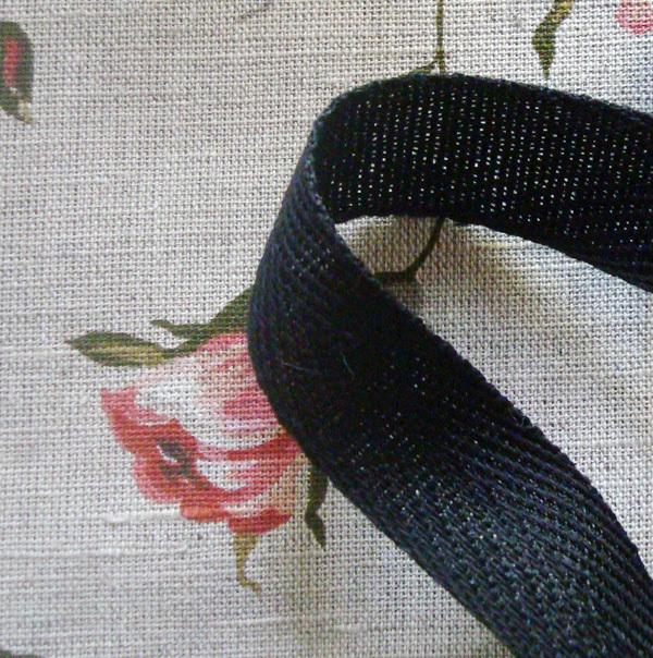 Лента киперная 20 мм черный