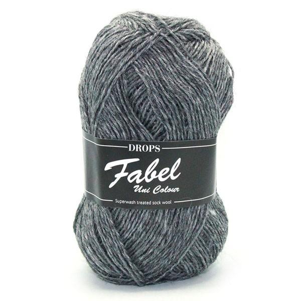 Пряжа Drops Fabel 200 темно-серый меланж