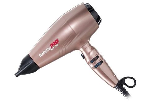 Фен BaByliss Pro Rapido, 2200 Вт, ионизация, 3 насадки + глушитель, диффузор, розовый