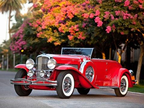 Алмазная Мозаика 30x40 Красный ретро автомобиль