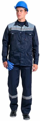 Костюм Галакт МВО, цв.т.синий/серый, куртка, п/ком.
