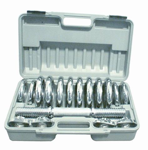 Набор разборных хромированных гантелей 2 по 6,5 кг в кейсе DSN25CR