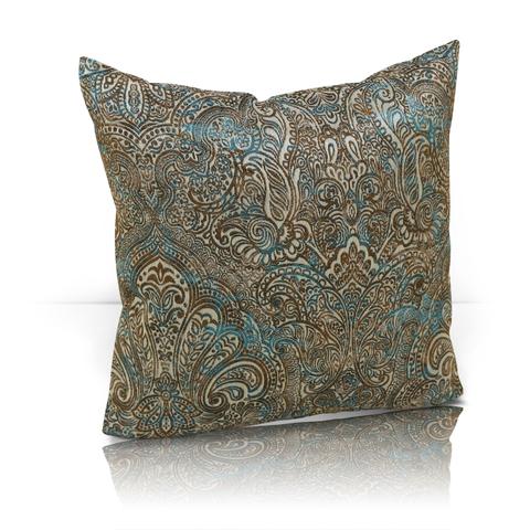 Подушка декоративная жаккард Франсика бирюзовый
