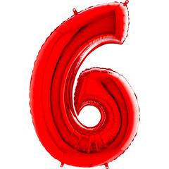 Цифра 6 (Красная)