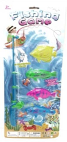 Рыбалка на блистере (50*19; удочка + 4 рыбки)