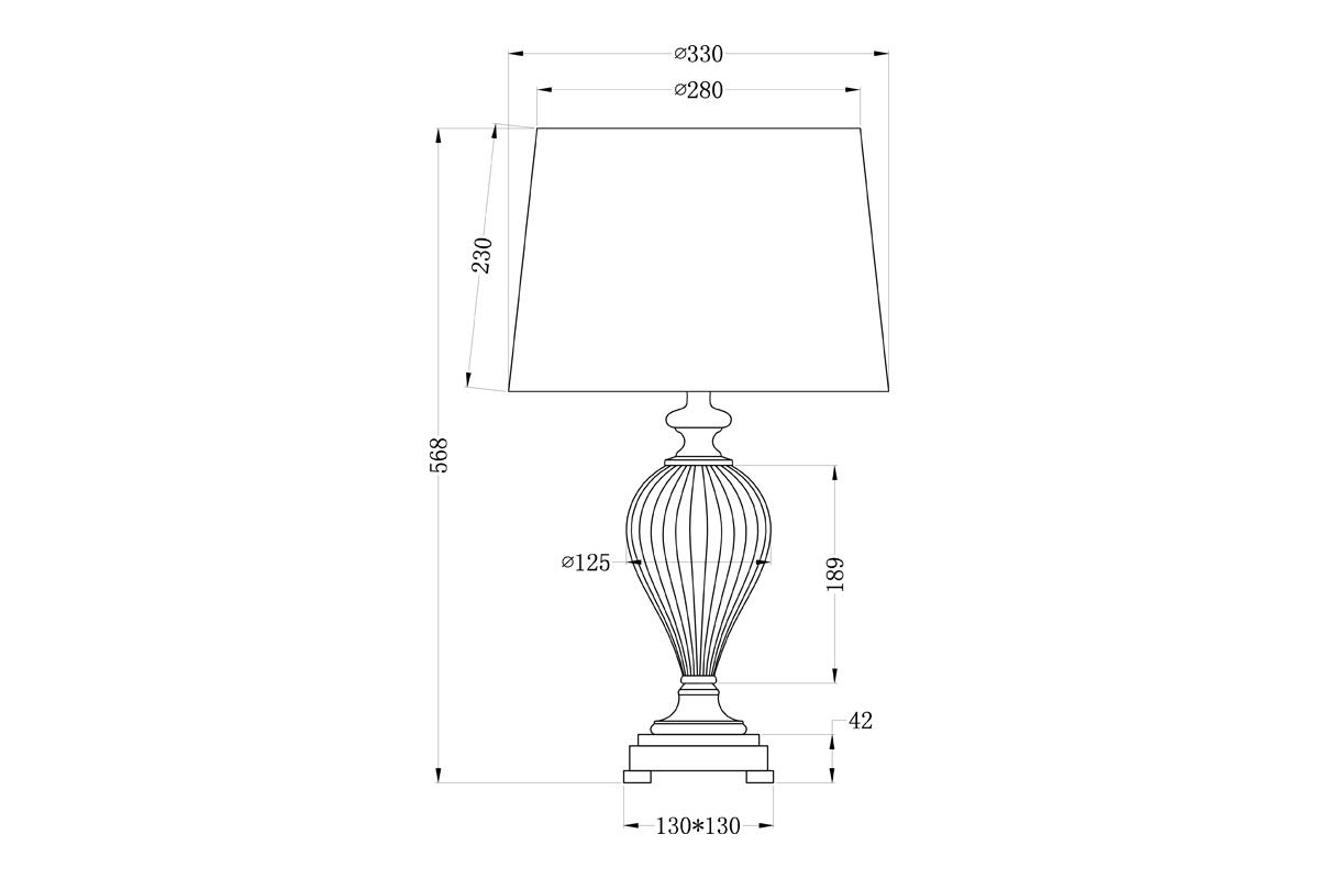 22-86892 Лампа настольная плафон бежевый Д33,В60