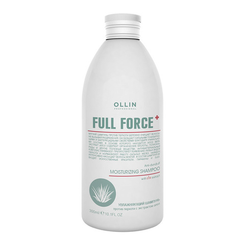 OLLIN PROFESSIONAL FULL FORCE Увлажняющий шампунь против перхоти с экстрактом алоэ 300 мл