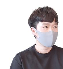 ASKIN MASK GRAY, маска-респиратор размер М- 1 шт в упаковке (серая)