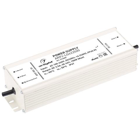 Блок питания ARPJ-LG423500 (150W, 3500mA, PFC) (ARL, IP67 Металл, 2 года)