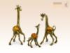 фигурка Семья жирафов с янтарем