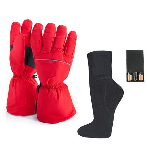 Комплект-подарок перчатки с подогревом АА и носки с подогревом АА
