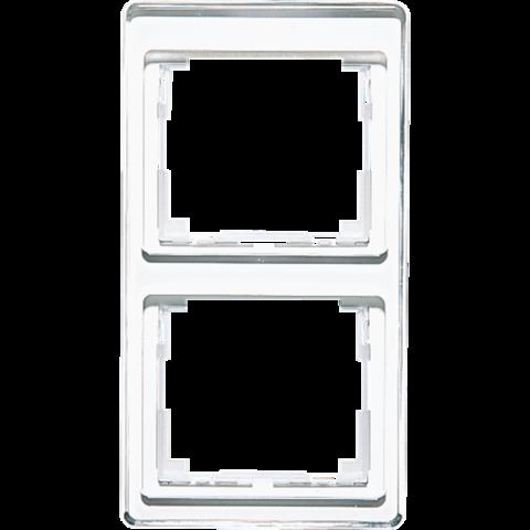 Рамка на 2 поста, вертикальная. Цвет Белый. JUNG SL. SL582WW