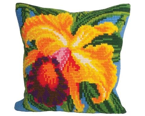 Подушка для вышивания Орхидея