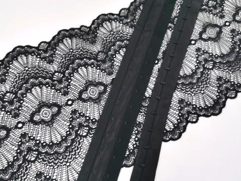 Крючки-петли на ленте, черные, (Арт: KPL- 170)