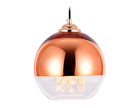 Подвесной светильник со сменной лампой TR3603 CP/CL медь/прозрачный E27 max 40W D200*1000