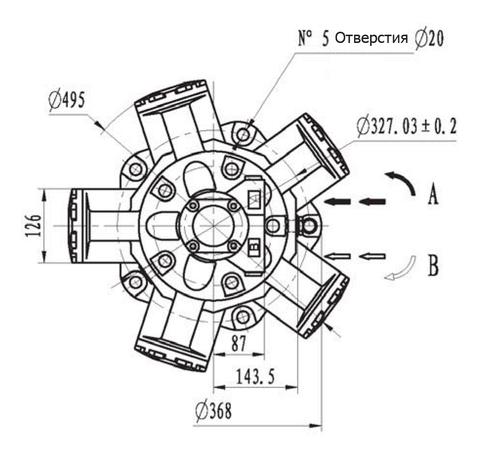 Гидромотор IMB 080-1250